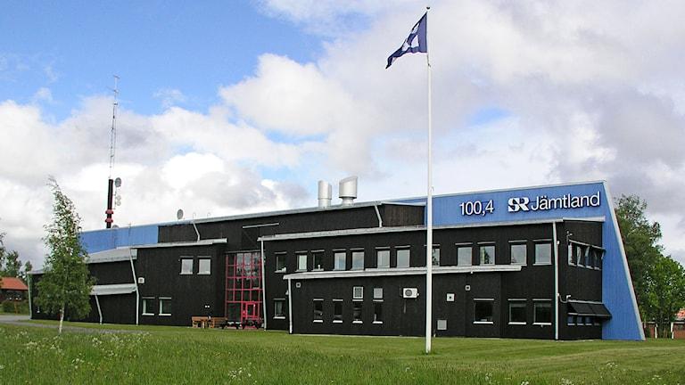 Radiohuset i Östersund. Bilden tagen från väster. Foto: Pelle Törnqvist/Sveriges Radio.
