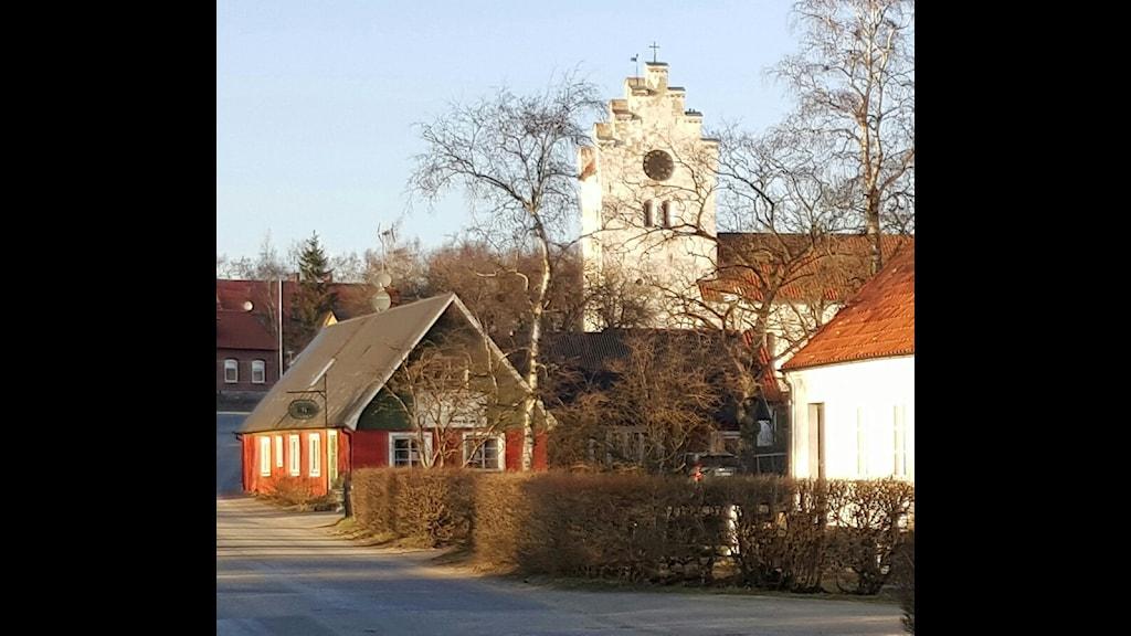 Gatuvy i samhället Gladsax