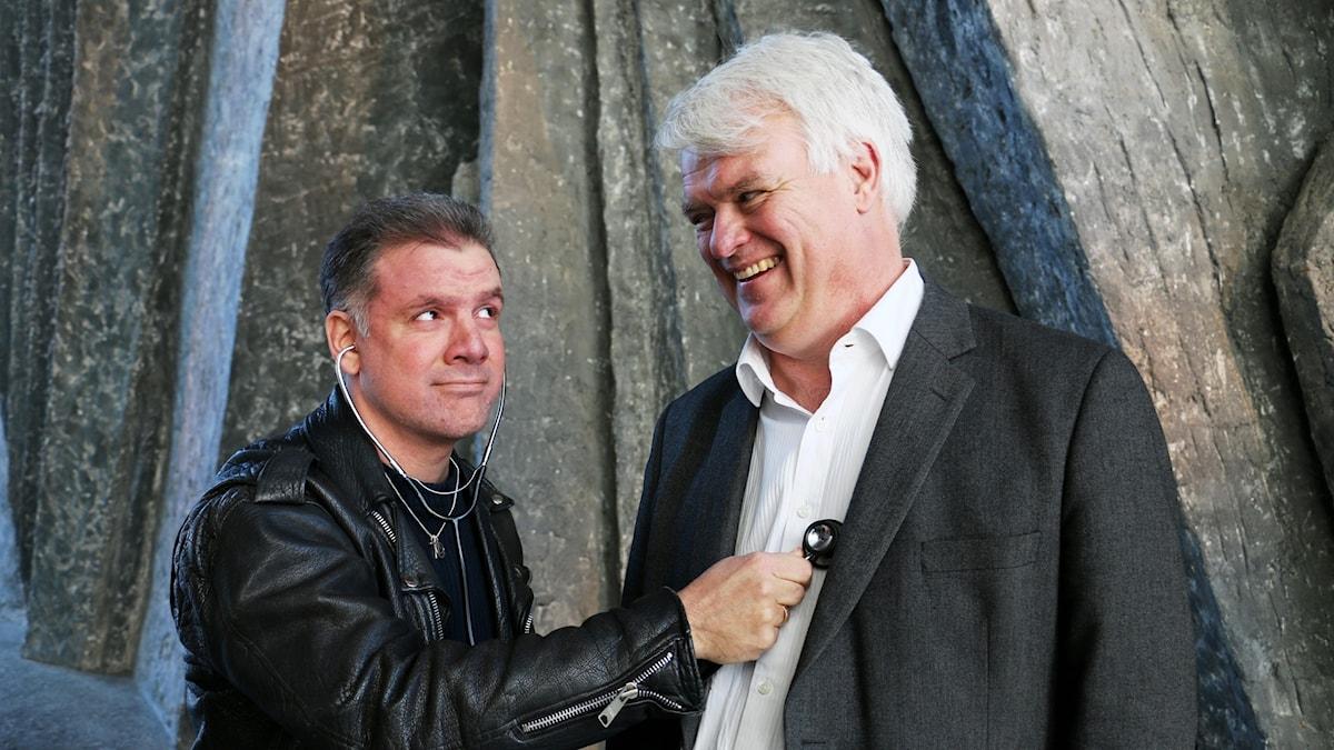 Johan Ingerö, debattör och ansvarig för välfärdsfrågor på tankesmedjan Timbro , och Michael Arthursson, partisekreterare Centerpartiet