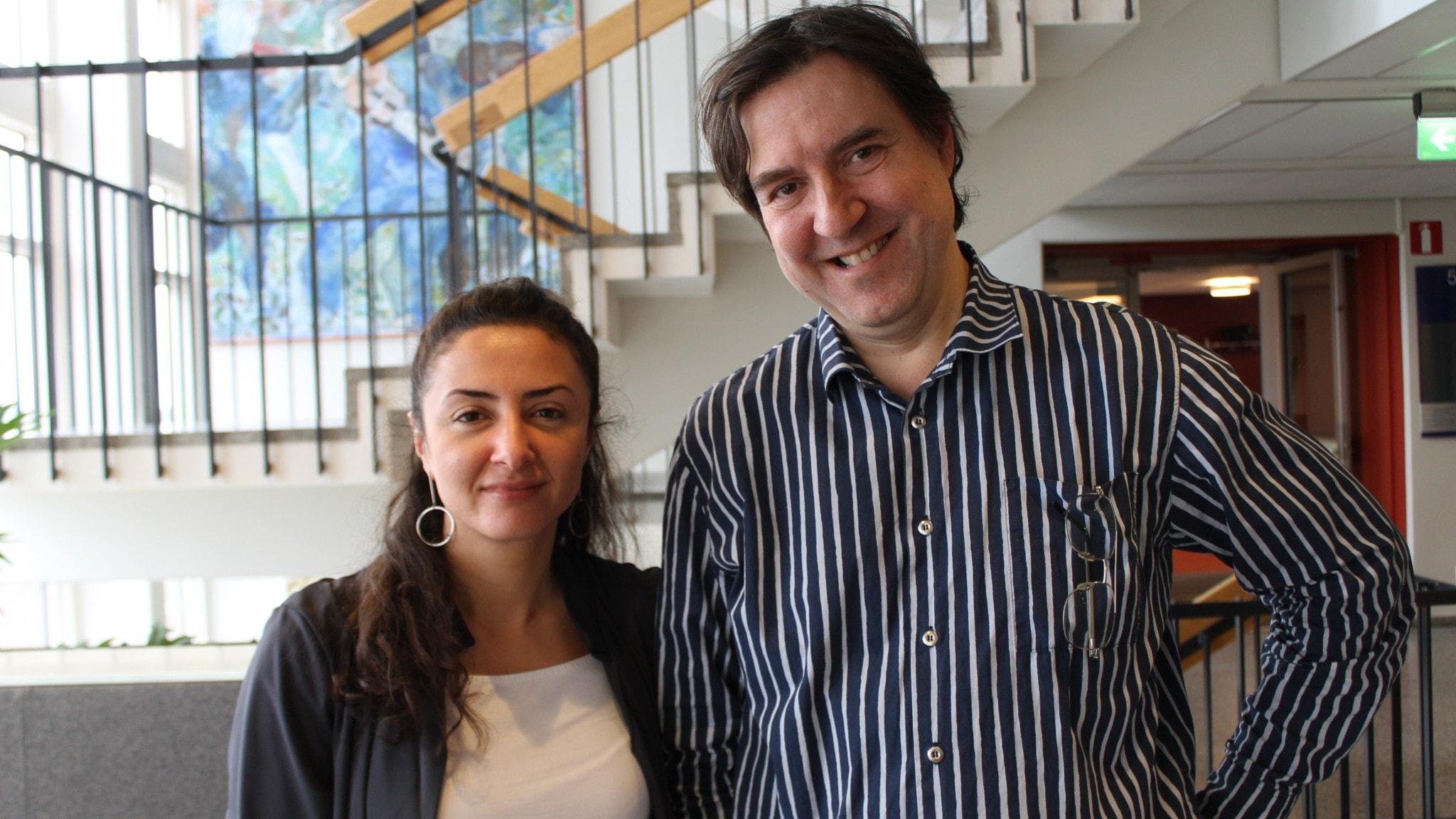 Lubna El-Shanti och Fredrik Wadström