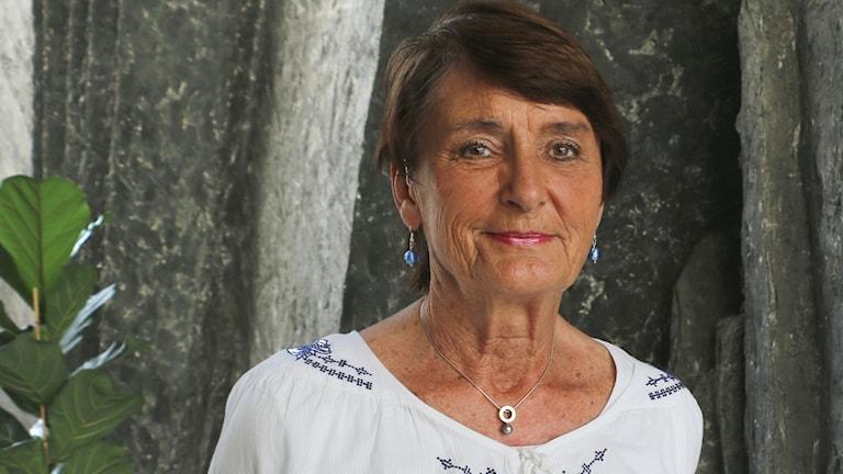 Lena Rainer, korsordslösare, författare till boken Rätt i krysset