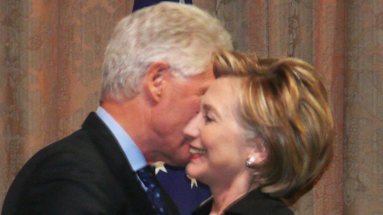 Hillary och Bill Clinton.