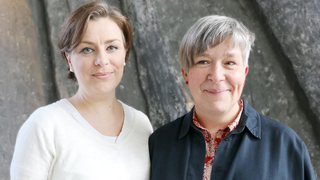 Gunilla Byström från Fountain House och Kattis som är bipolär.