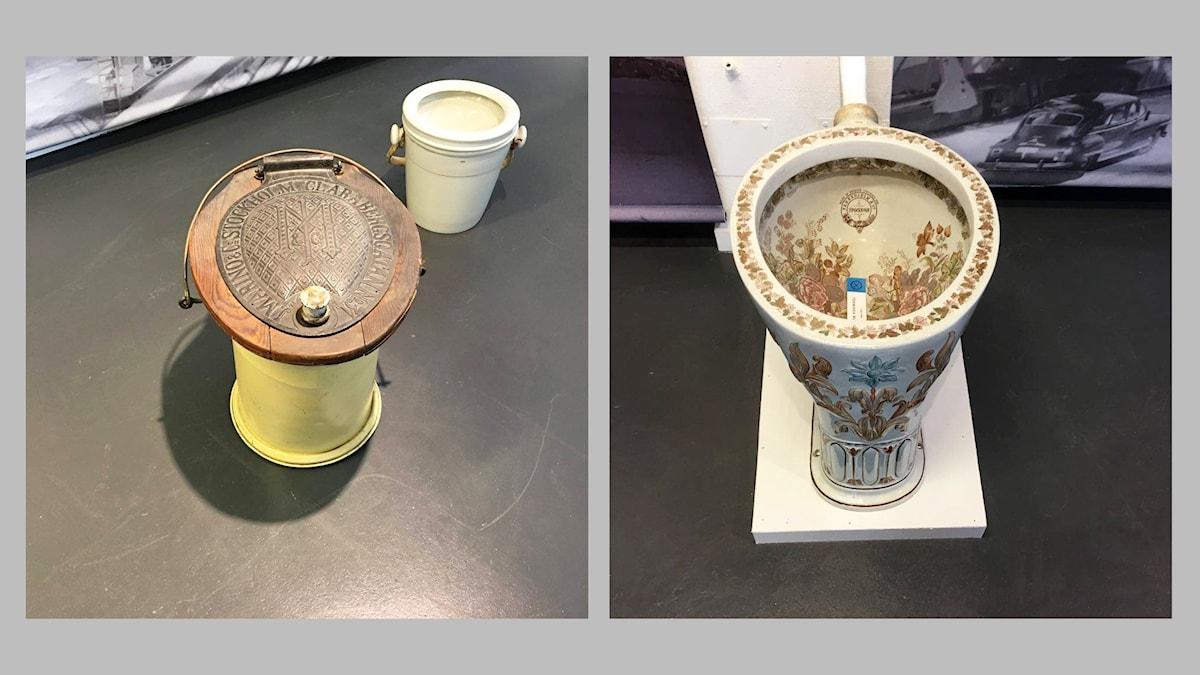 Två olika typer av utställningsobjekt på VVS-museet som har öppnat på ny ort - nämligen i Bromma. Thomas Nordegren var där och fotograferade för fulla muggar.