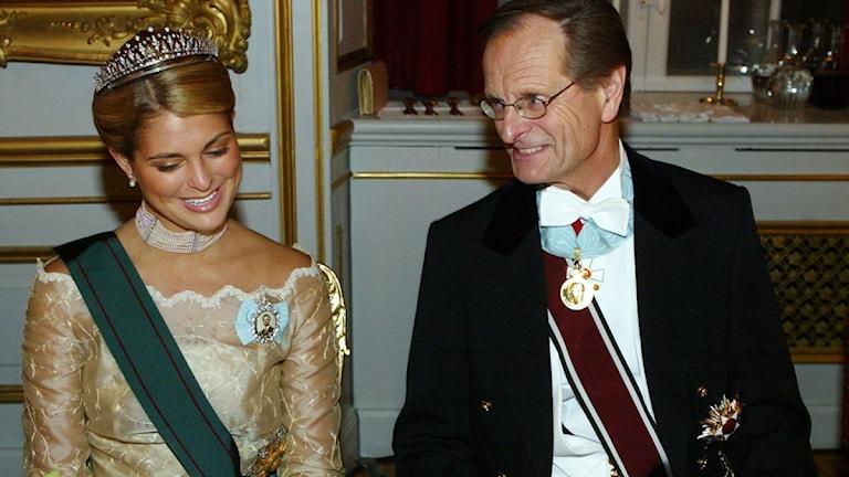 Riksmarskalk Ingemar Eliasson, här med prinsessan Madeleine. Foto: Henrik Montgomery, Scanpix.