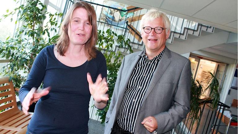 Louise Epstein och Thomas Nordegren. Foto: Ronnie Ritterland / Sveriges Radio