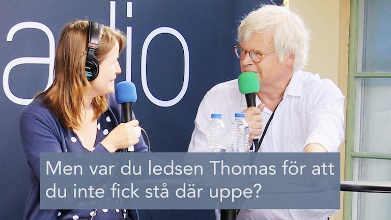 Thomas Nordegren och Louise Epstein i Almedalen.
