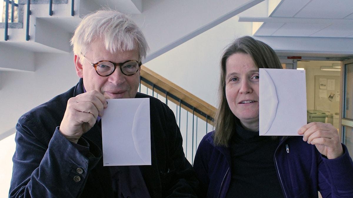 Thomas Nordegren, Louise Epstein och små kuvert.