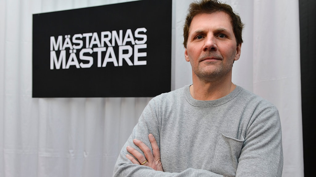 Micke Leijnegard, programledare i SVT:s Mästarnas mästare. Foto: Anders Wiklund, TT