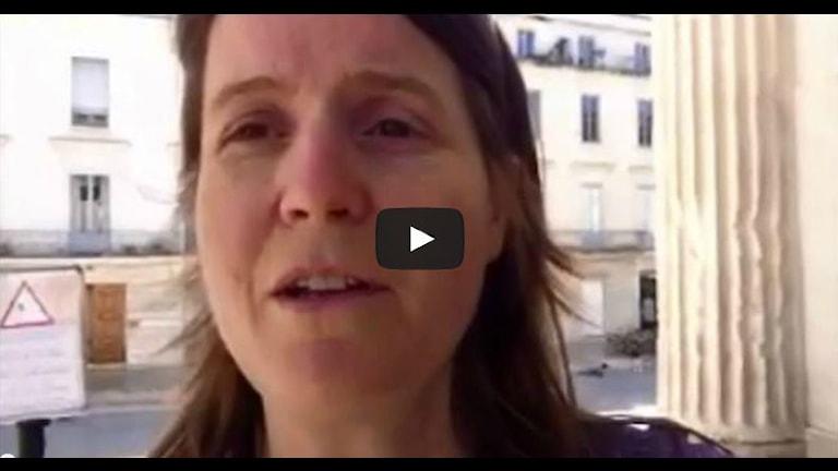 Louise Epstein har kommit fram till franska Nimes. Foto: Louise Epstein / Sveriges Radio