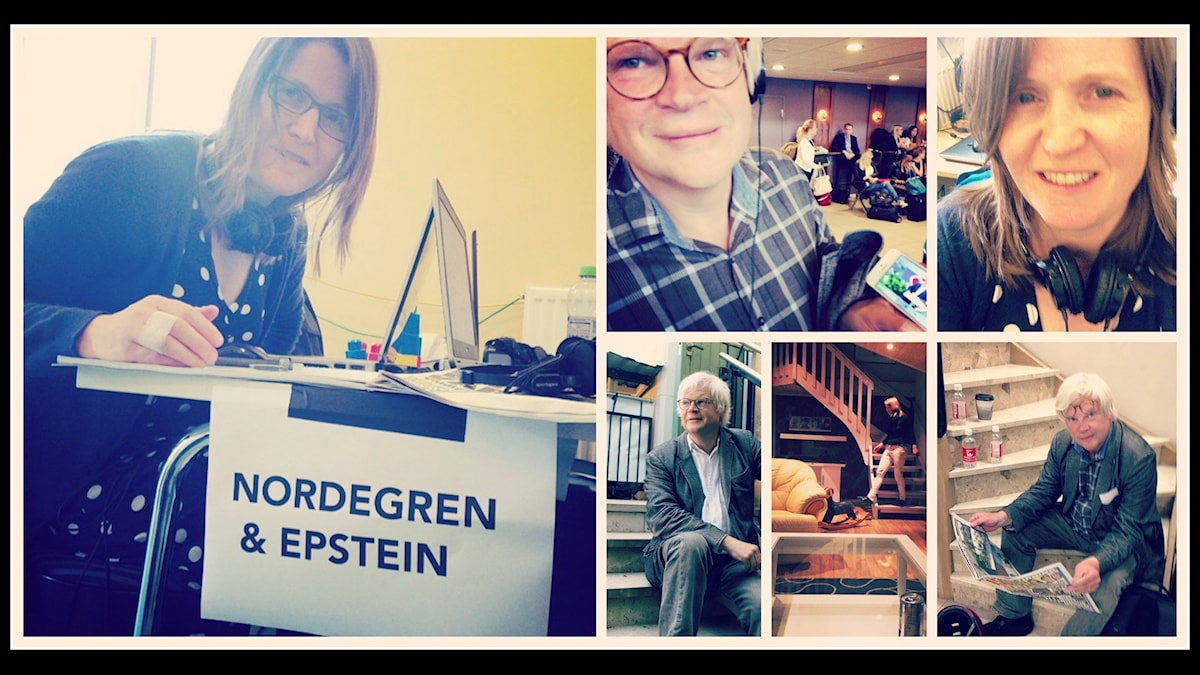 Thomas Nordegren & Louise Epstein uppdaterar vad de gör mellan sändningarna på sociala medier. Foto: Redaktionen / Sveriges Radio