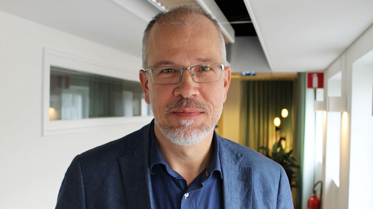 Mattias Wager, organist i Storkyrkan i Stockholm. Foto: Ronnie Ritterland / Sveriges Radio