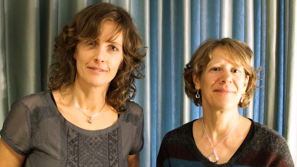 Ann Fernholm, vetenskapsjournalist och Anna-Karin Lindroos, Livsmedelsverket. Foto: Ronnie Ritterland / Sveriges Radio