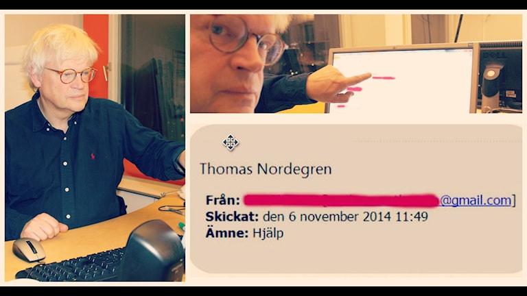 Thomas har fått ett brev från en väns fru som är nödställd. Foto: Ronnie Ritterland / Sveriges Radio