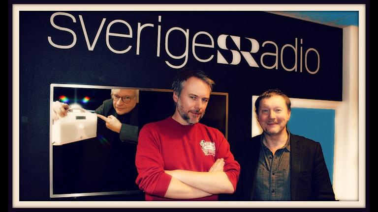 Sveriges Radios programdirektör Björn Löfdahl och Tommie Jönsson som har som arbete skapa och producera radio och teveprogram. Foto: Ronnie Ritterland / Sveriges Radio