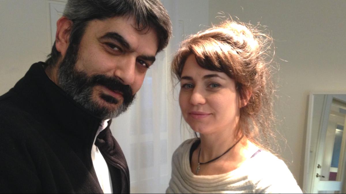 Rouzbeh Djalaie och Ülkü Holago Foto: SR