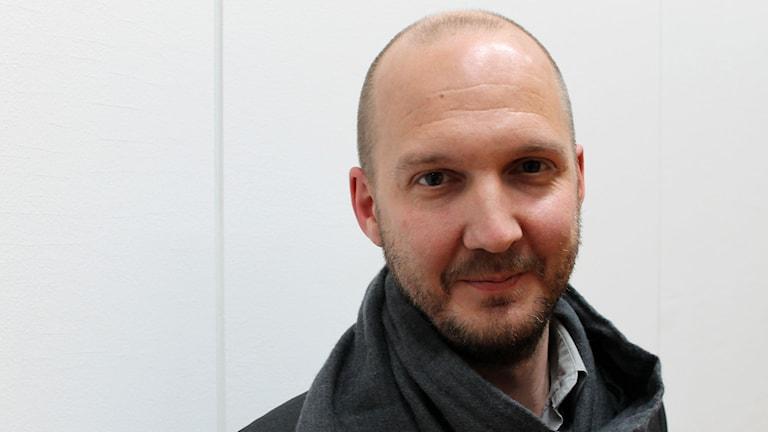 Reportrar utan gränsers Jonathan Lundqvist. Foto: Ronnie Ritterland / Sveriges Radio