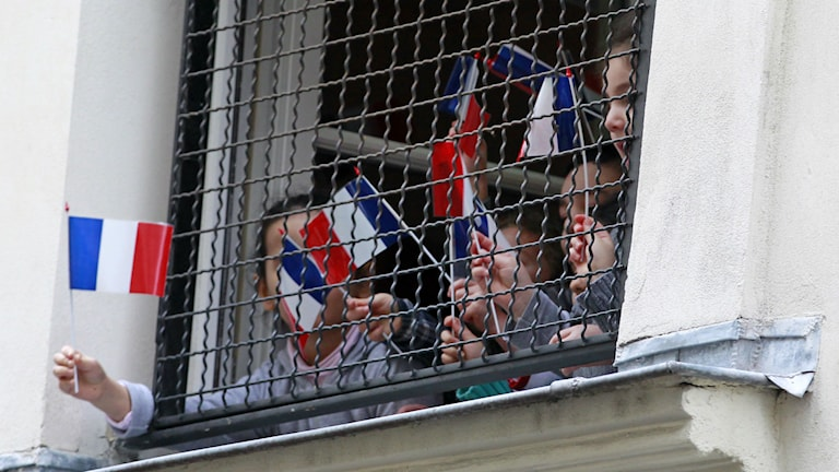 Judiska skolbarn i Paris. Foto: Remy de la Mauviniere TT