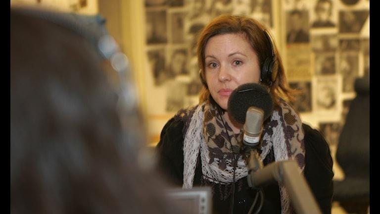 Anna Ek från Svenska freds. Foto: Jonas Ekblom/Sveriges Radio