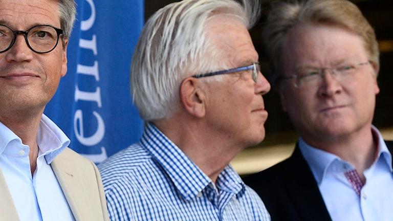 Göran Hägglund, Alf Svensson och Lars Adaktusson. Foto: Claudio Bresciani/TT