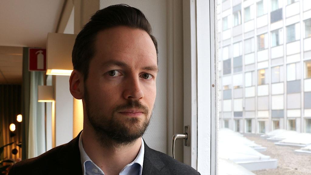 David Baas reporter, Expressen. Foto: Ronnie Ritterland / Sveriges Radio