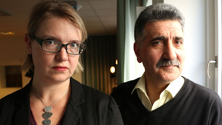 Marja Grill, reporter på SVT Nyheter som under flera år granskat frågan medverkar tillsammans med Sam Yildirim, utvecklingsledare för integration på Länsstyrelsen. Foto: Ronnie Ritterland / Sveriges Radio