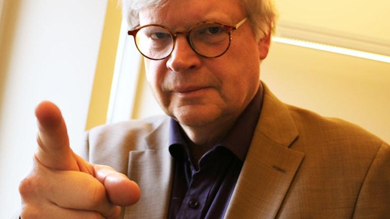Thomas Nordegren har ett förslag på hur man kan lösa valideringsfrågan. Foto: Ronnie Ritterland / Sveriges Radio