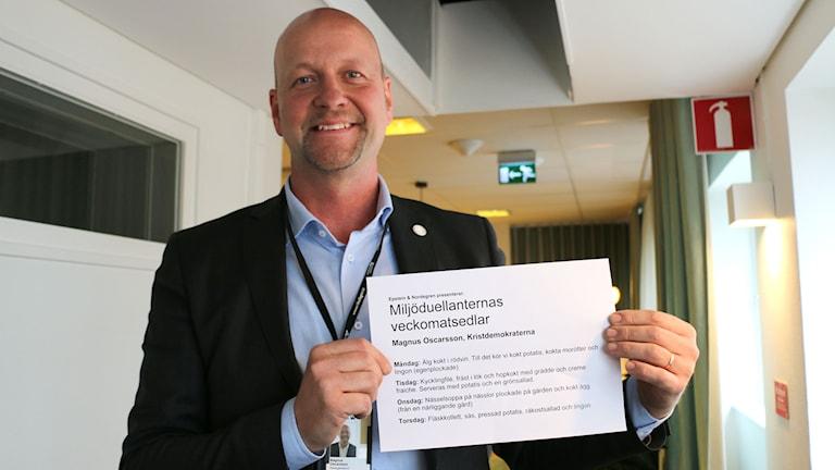Magnus Oscarsson, Kristdemokraterna. Foto: Alfred Wreeby / Sveriges Radio