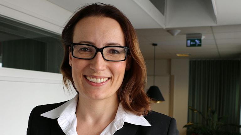 Heidi Stensmyren, ordförande för Sveriges läkarförbund, medverkar i Nordegren & Epstein. Foto: Ronnie Ritterland / Sveriges Radio