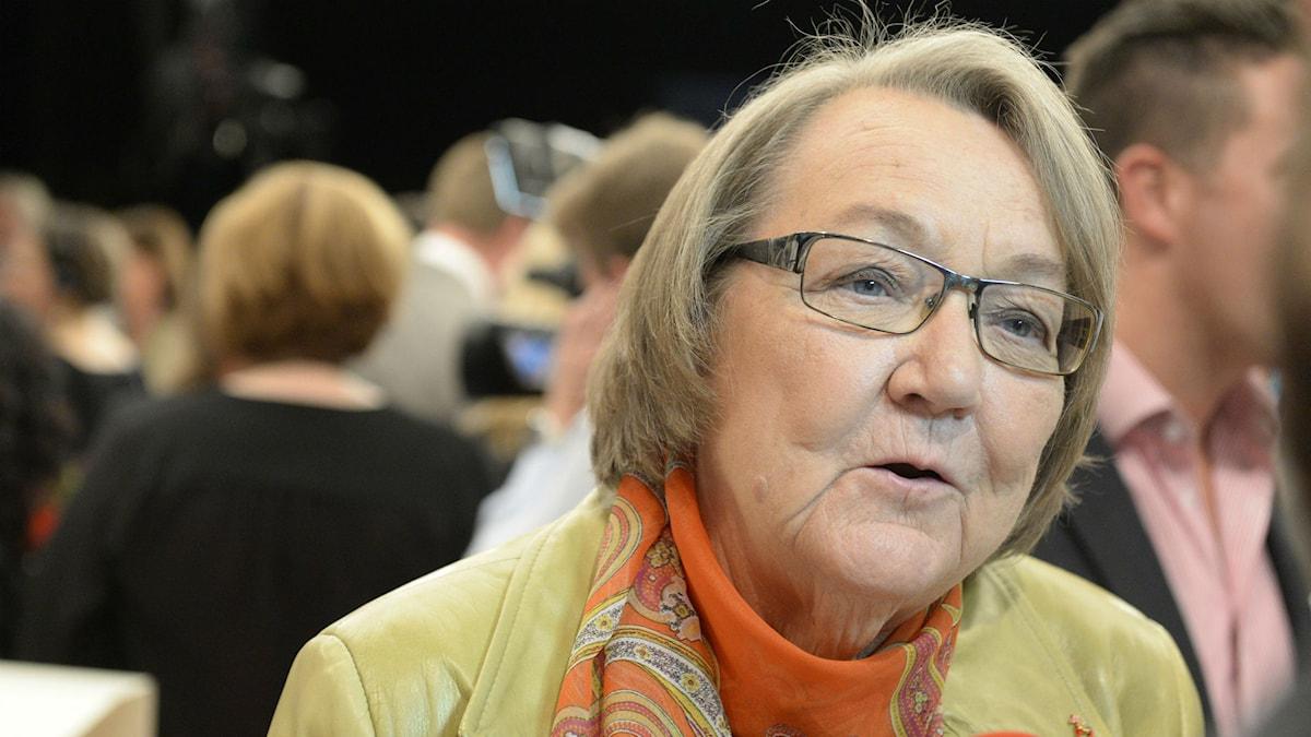 Marit Paulsen, fp, med ett förflutet som författare är ett exempel på kulturpersonlighet som blivit politiker. Foto: Bertil Ericson/TT
