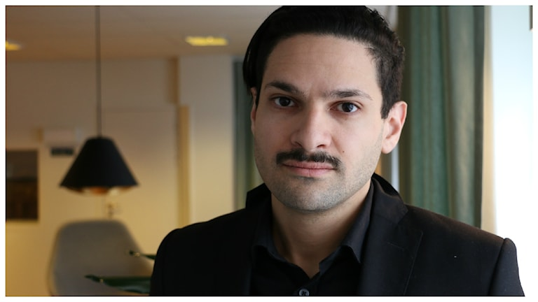 Karim Jebari till vardags forskare vid Institutet för framtidstudier. Foto: Alfred Wreeby/Sveriges Radio