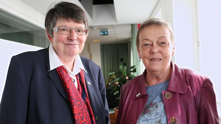 Den nyvalda ordföranden i PRO, Christina Tallberg. Vi har också bjudit in Christina Rogestam, ordförande för SPF seniorerna. Foto: Ronnie Ritterland / Sveriges Radio