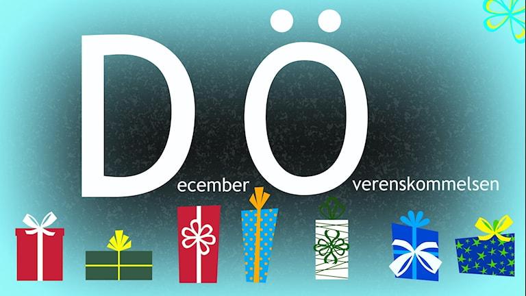 Decemberöverenskommelsen. Illustration: Ronnie Ritterland / Sveriges Radio