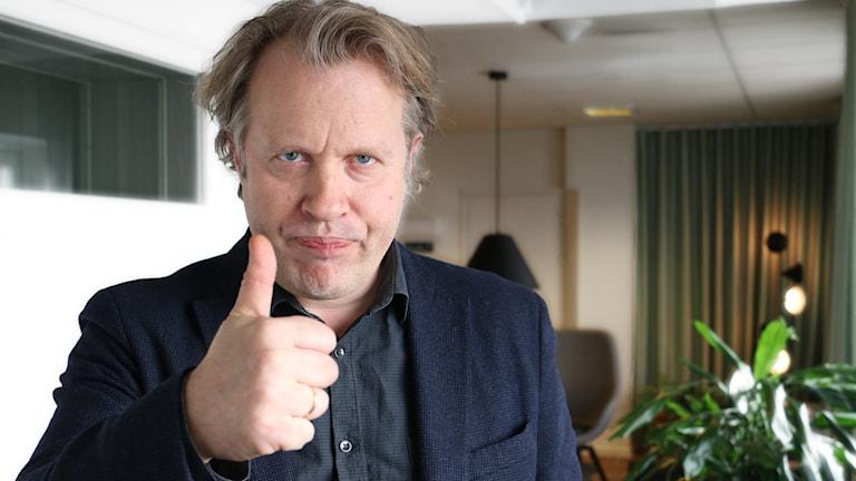 Eirik Stubö är ny chef på Dramaten. Vad ska hända? Foto: Ronnie Ritterland / Sveriges Radio