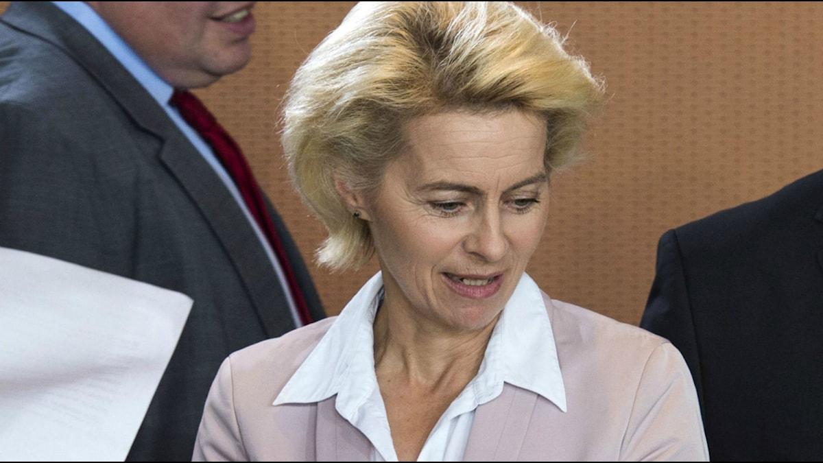 Ursula von der Leyen - anklagad för fusk. Foto: John Macdougall/AFP PHOTO