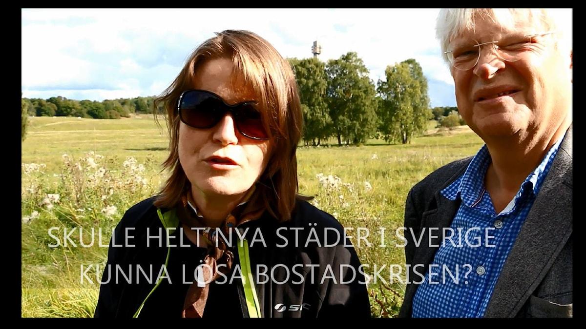 Under fyra tillfällen i höst bjuder Louise Epstein och Thomas Nordegren in representanter från de olika riksdagspartierna att duellera i programserien Bostadsduellen. Foto: Ronnie Ritterland / Sveriges Radio