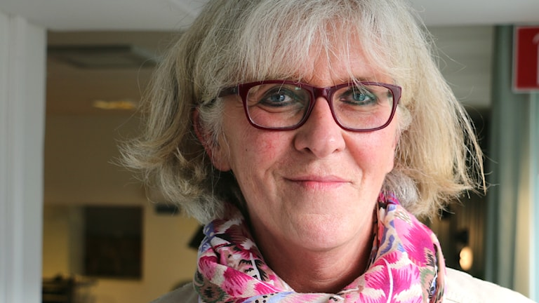 Elisabeth Tollsten, medlare vid Stockholms Kyrkogårdsförvaltning. Foto: Ronnie Ritterland / Sveriges Radio