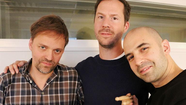 Petter Bergander trio består av Petter Bergander - piano, Martin Höper - bas och Robert Ikiz - trummor. Foto: Ülkü Holago / Sveriges Radio