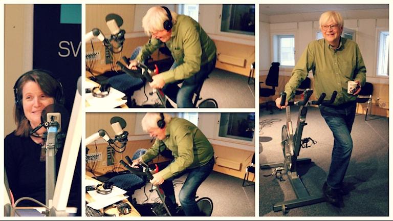 Louise Epstein fick medhåll för sin oro av flera lyssnar över hur smart det egentligen var av Thomas Nordegren att utsätta sig för högintensiv intervallträning utan ordentlig uppvärmning och utan att ha tränat upp sig innan han satte sig på cykeln. Foto: Ronnie Ritterland / Sveriges Radio