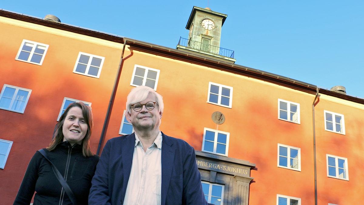 Nordegren & Epstein sänder direkt från det gamla mytomspunna mentalsjukhuset Beckomberga. Foto: Ronnie Ritterland / Sveriges Radio