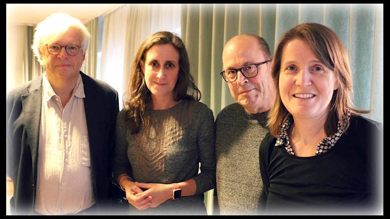 Aftonbladets tv-chef Jan Scherman och SVT-chefen Hanna Stjärne. Foto: Ronnie Ritterland / Sveriges Radio