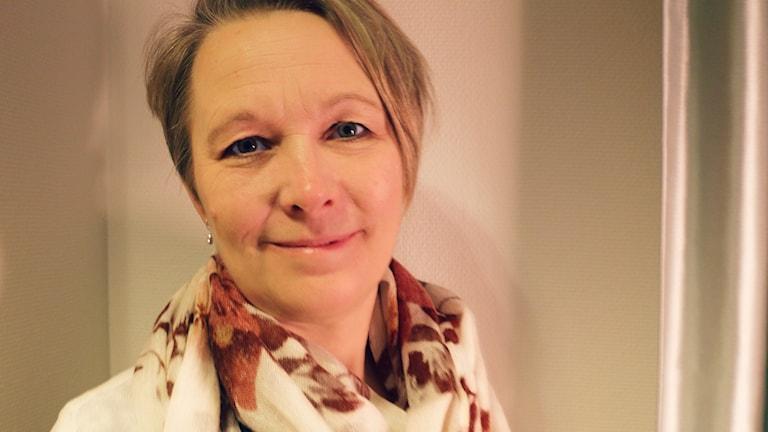 Anna-Karin Johansson från Svenska Afghanistankommittén gästar Nordegren & Epstein i P1. Foto: Ronnie Ritterland / Sveriges Radio