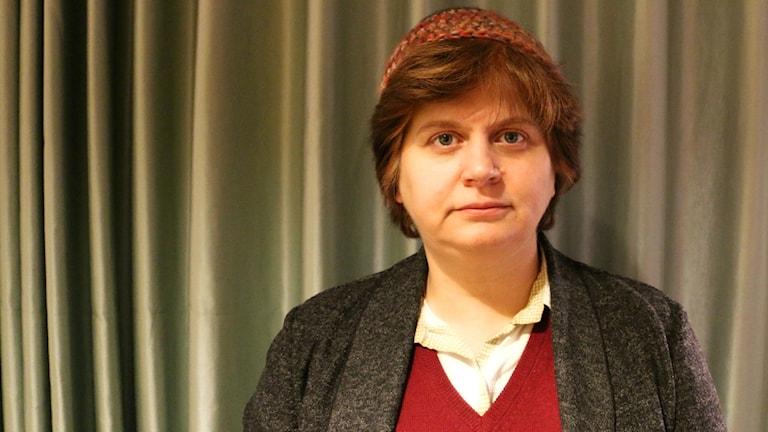 Rabbin Ute Steyer medverkar i Nordegren & Epstein i P1. Foto: Ronnie Ritterland / Sveriges Radio