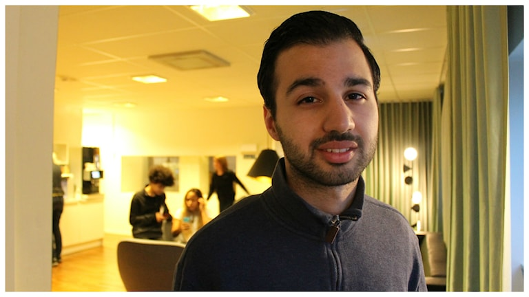 Milad Fallah initiativtagare till Refugee Tech. Foto: Alfred Wreeby/SR