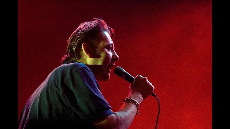 The Pogues sångare Shane MacGowan som nu har fått ny tänder. Foto: Börn Larsson Rosvall/TT