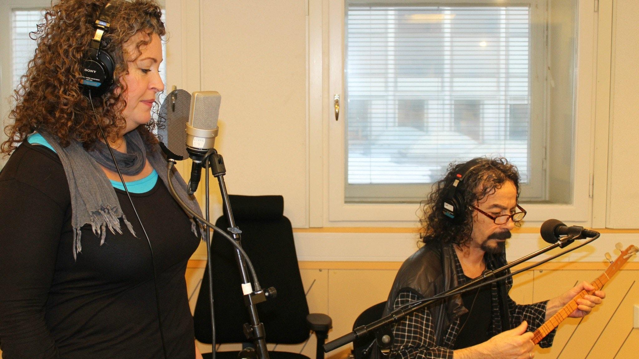 Burcu Ada och Kudret Dilik. Foto: Sveriges Radio
