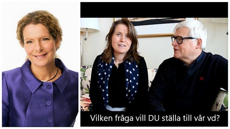 Sveriges Radios vd Cilla Benkö besöker traditionsenligt Nordegren & Epstein i P1. Foto: Sveriges Radio