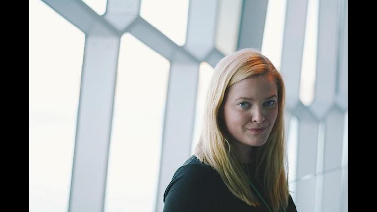 Anna Abrahamsson, president Ungdomens Nordiska råd och finsk liberal ungdomspolitiker. Foto: Erik Carter.