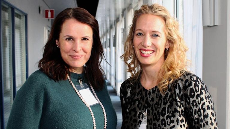 Pia Sehm och Mia Edwall Insulander FOTO: Cecilia Djurberg/Sveriges Radio