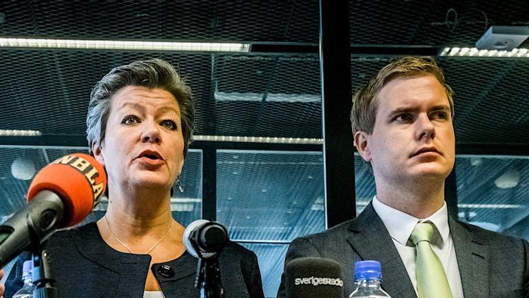 Ylva Johansson och Gustav Fridolin